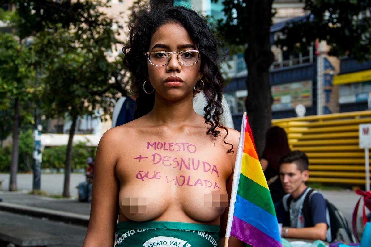 Un violador en tu camino, protesta en Caracas