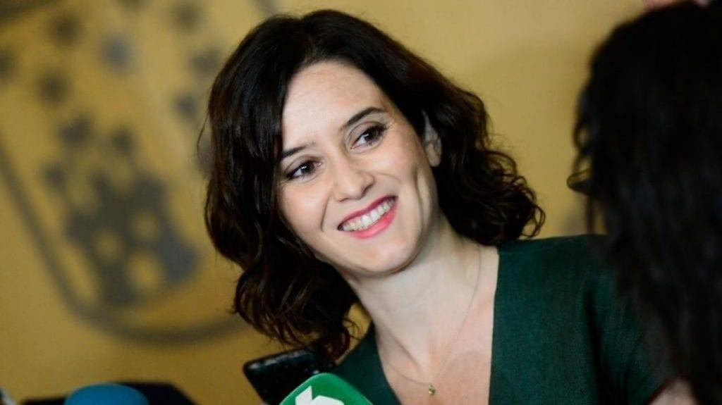 Isabel Díaz Ayuso, la presidente de la Comunidad de Madrid