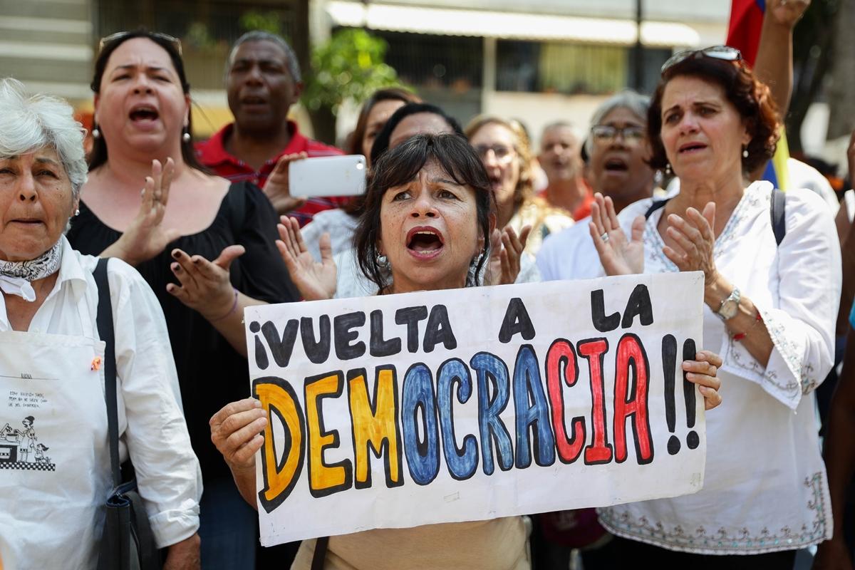 Protesta de oposición