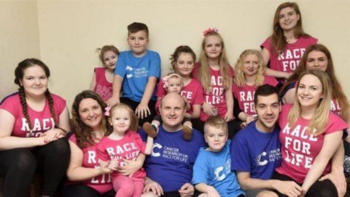 confinamiento de una familia con 13 hijos
