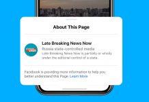 Facebook etíqueta publicaciones de medios controlados por Estados