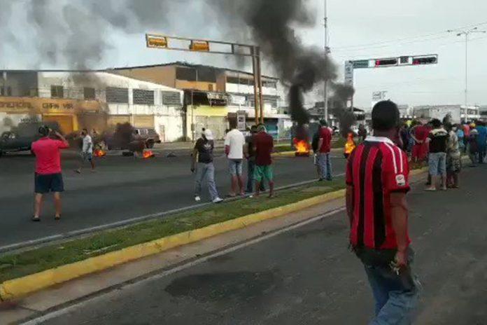 protesta en san felix gasolina