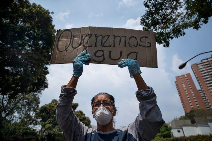 Protestas escasez de agua en Venezuela - Agosto