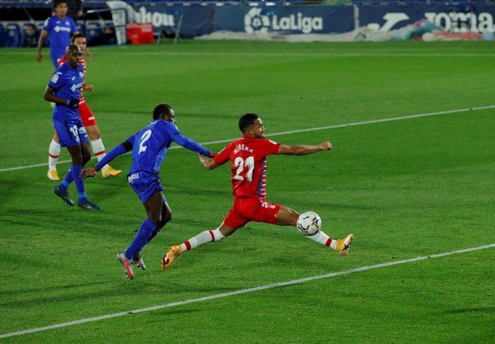 Granada ganó 1-0 en Getafe y alcanzó al Real Madrid