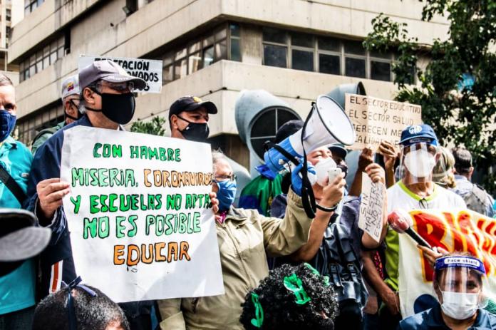 OVCS registró 70 protestas de docentes este lunes