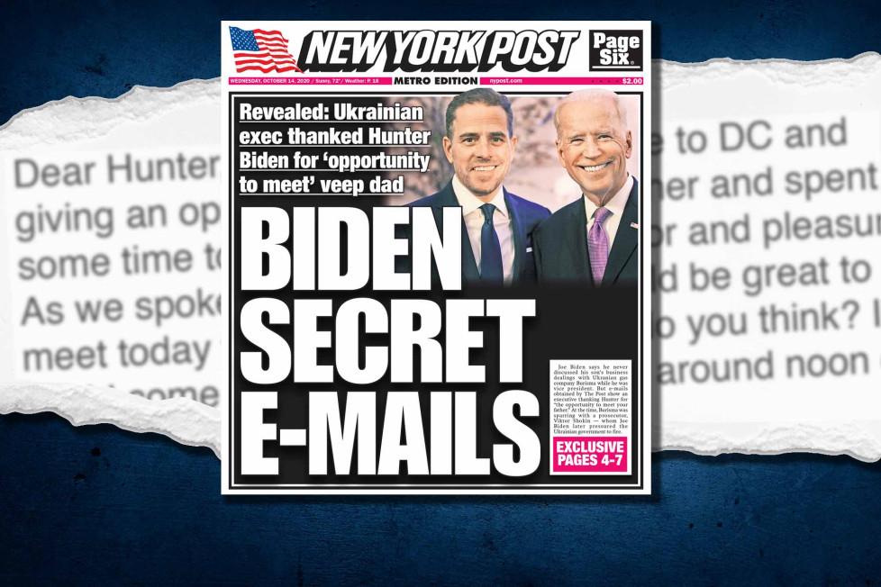 Biden: The New York Post reveló correos secretos que lo involucran