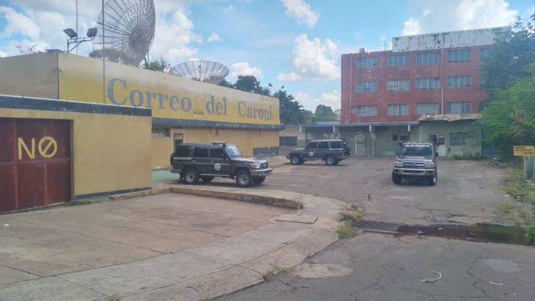 (VIDEO) Sebin allana sede del diario Correo del CaronÃ, en BolÃvar