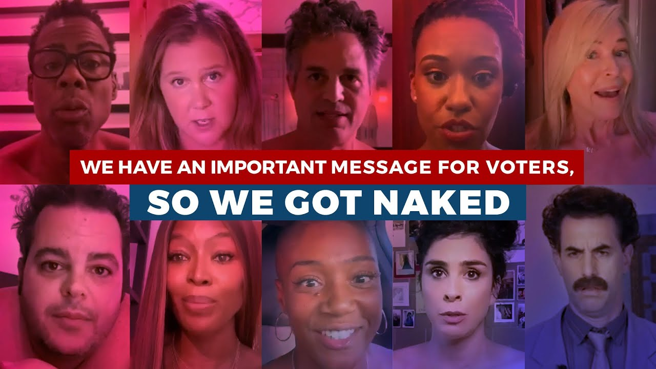 Famosos se desnudaron en un video para animar a sus fans a