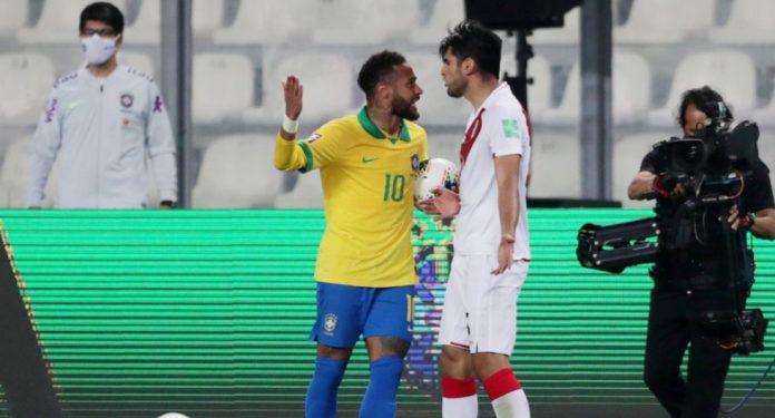 Neymar y Carlos Zambrano