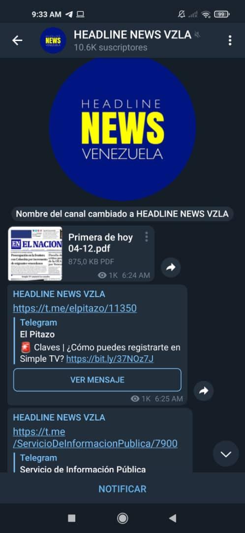 El Nacional Telegram