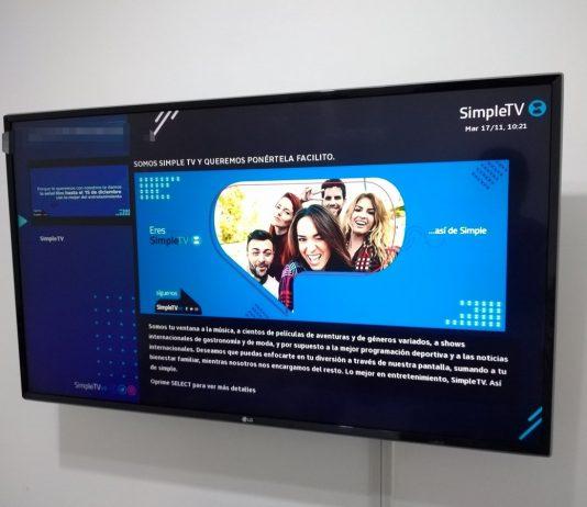 Página simple tv