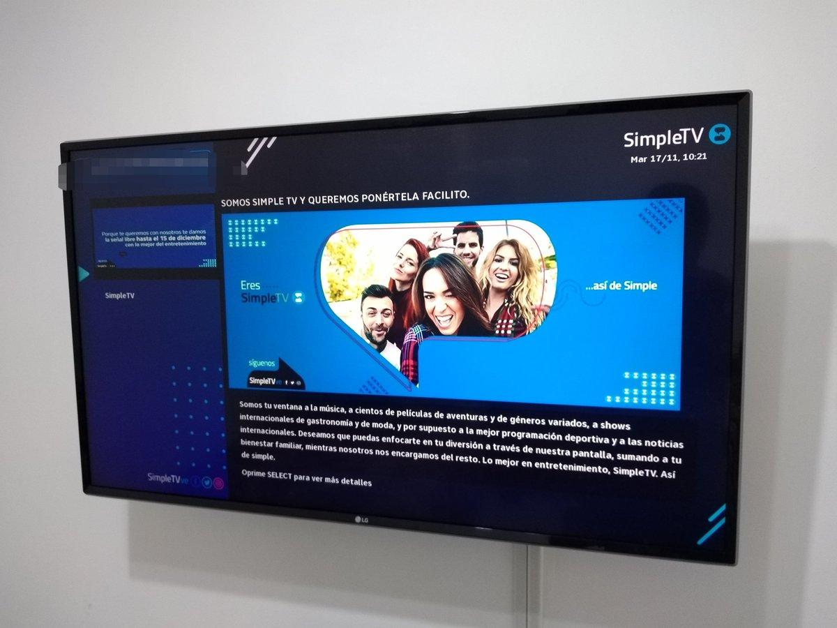 Simple TV anunció los canales que incluirán sus planes