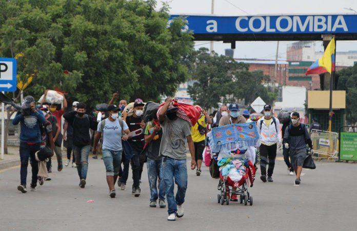 migrante migrantes Colombia requiere 641 millones de dólares para atender a venezolanos en 2021