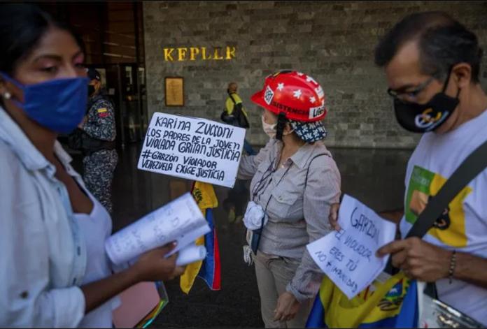 joven venezolana violada