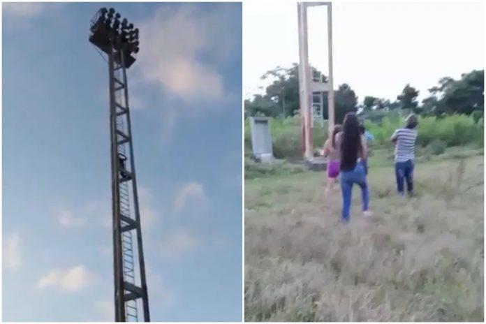 Adolescente intentó lanzarse desde una torre de iluminación de la ULA para quitarse la vida