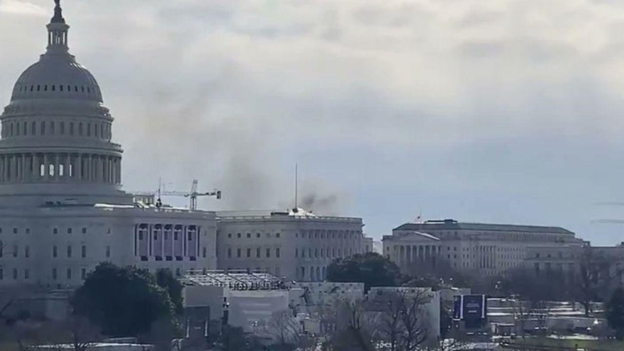 Se interrumpe ensayo de toma de protesta de Biden por incendio cercano