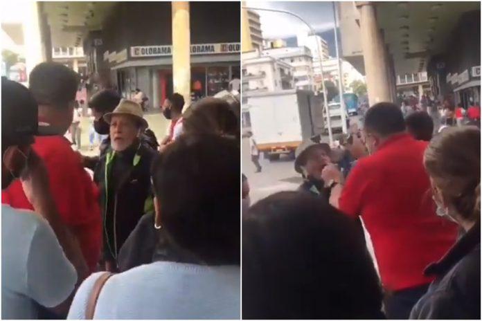 Trabajador del Saime agredió a pensionado y le quitó su celular