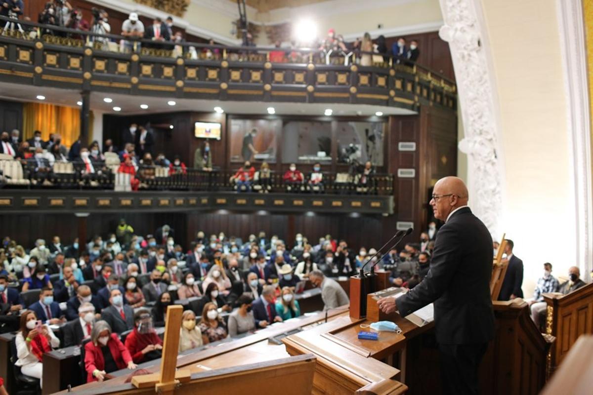 """Jorge Rodríguez en su primer discurso como presidente del Parlamento  chavista: """"Hay crímenes que no pueden ser perdonados"""""""