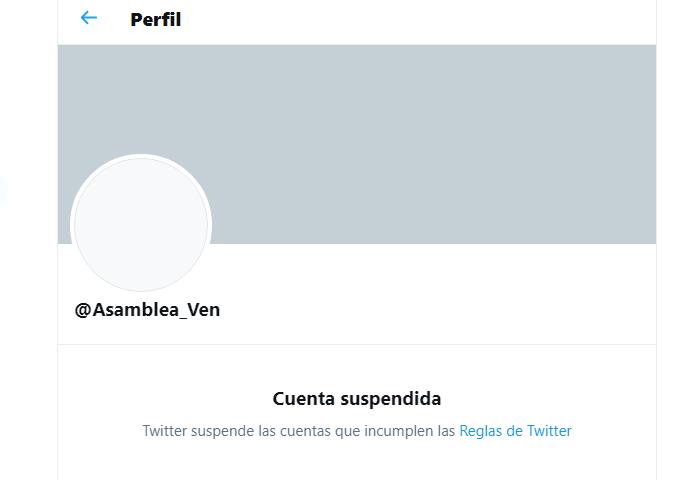 Twitter Asamblea Nacional chavista