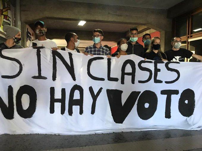 UCV protesta estudiantes