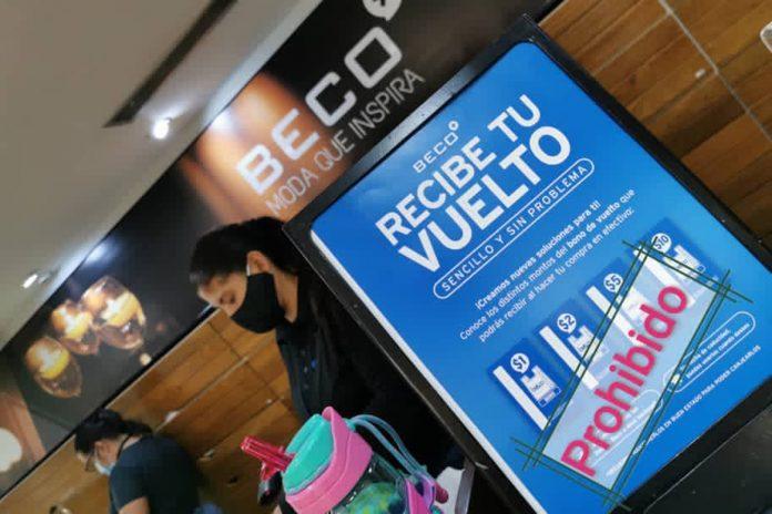 Régimen prohibió a Beco entregar vales dolarizados a sus clientes como vuelto