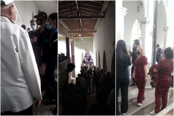 Suspendieron jornada de vacunación del personal médico en el Hospital Vargas de Caracas