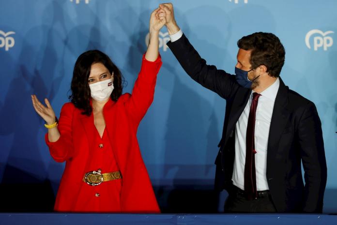 El Partido Popular arrasa en la ciudad de Madrid y Ayuso celebra que