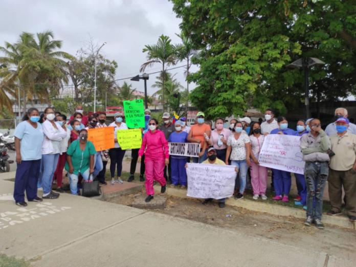 GNB tomó inmediaciones del hospital Dr. Lino Arévalo de Tucacas ante protesta de trabajadores sanitarios