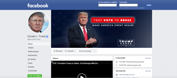 veto Trump Facebook