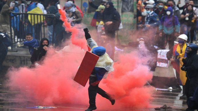las protesta colombia