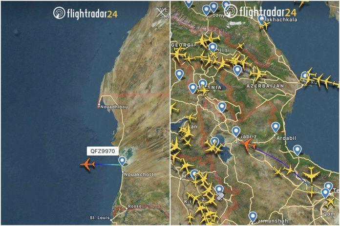 Avión vinculado a la Guardia Revolucionaria de Irán se dirige a Venezuela