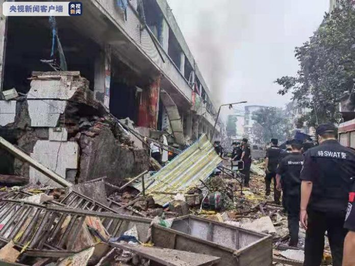 explosión en área residencial