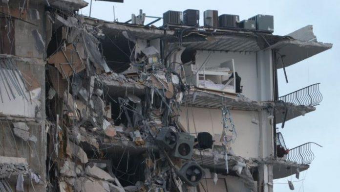 Derrumbe en Miami edificio