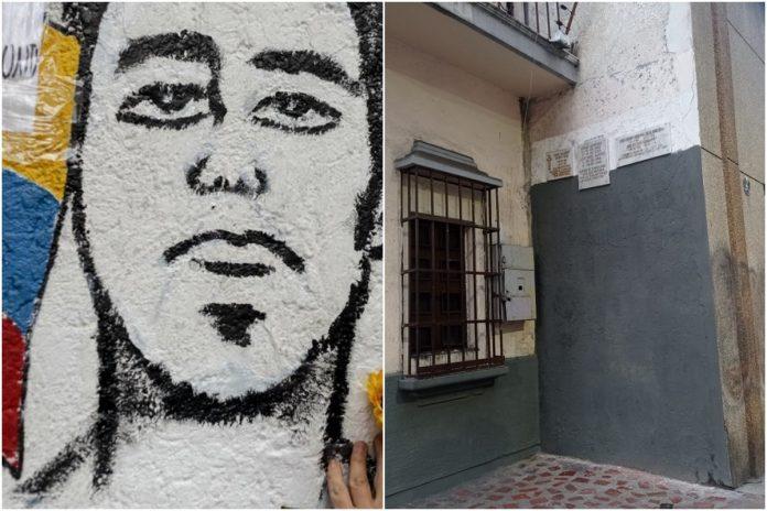 Régimen pintó de gris el mural en homenaje a jóvenes caídos en la Candelaria