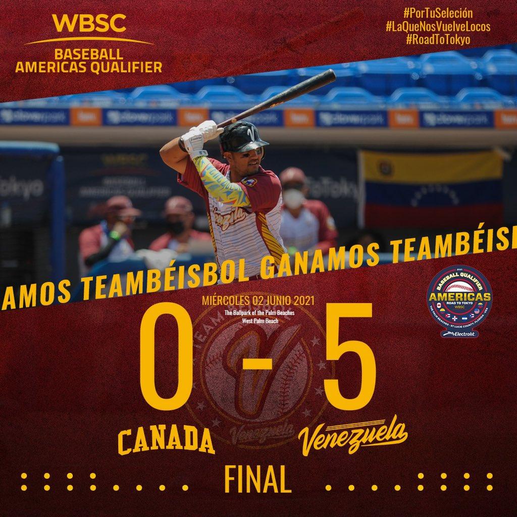 Venezuela clasifica invicta a la super ronda del Preolímpico de Béisbol
