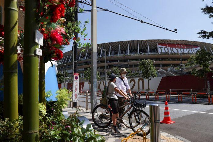 pebetero en el Estadio Olímpico de Tokio