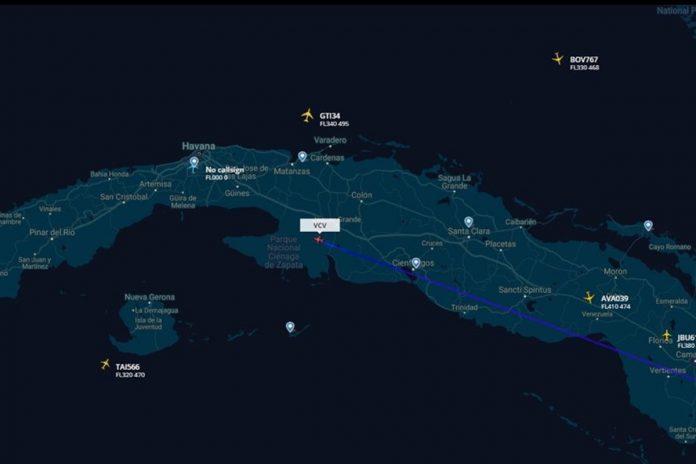Avión presidencial de Venezuela aterrizó en La Habana