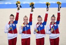 Equipo ruso de gimnasia medalla de oro