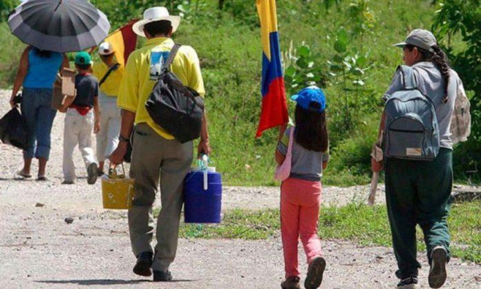 pobreza 2020 desplazados Colombia