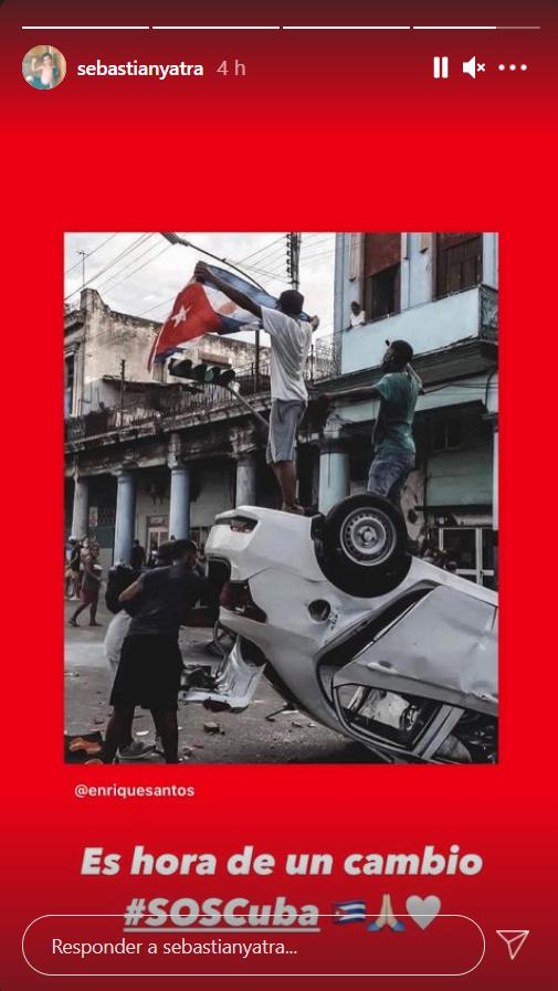 Sebastián Yatra protestas Cuba