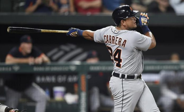 Miguel Cabrera hits
