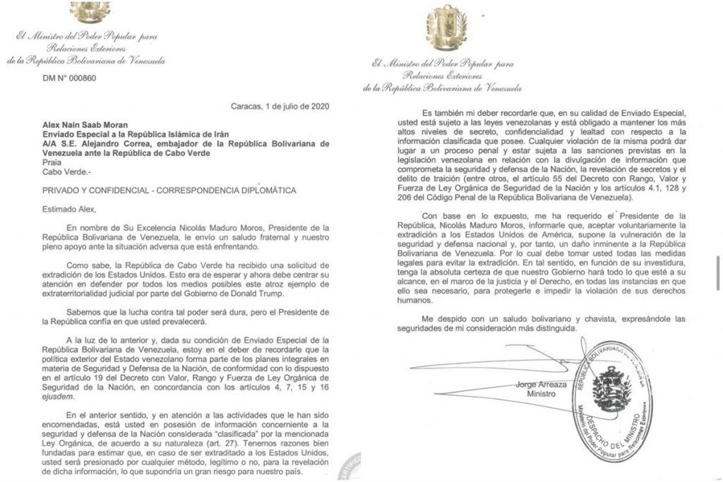 Noticias Internacionales - Página 14 Carta-jorge-arreaza-alex-saab--1024x683
