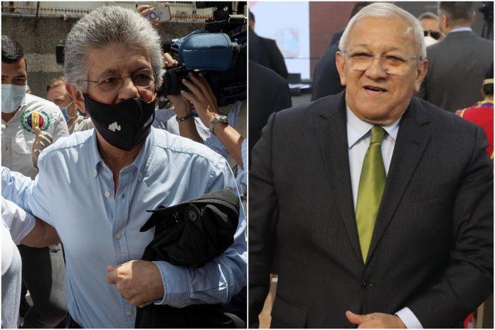 Henry Ramos Allup y Bernabé Gutiérrez conversan para presentar candidaturas únicas de Acción Democrática para las elecciones del 21 de noviembre