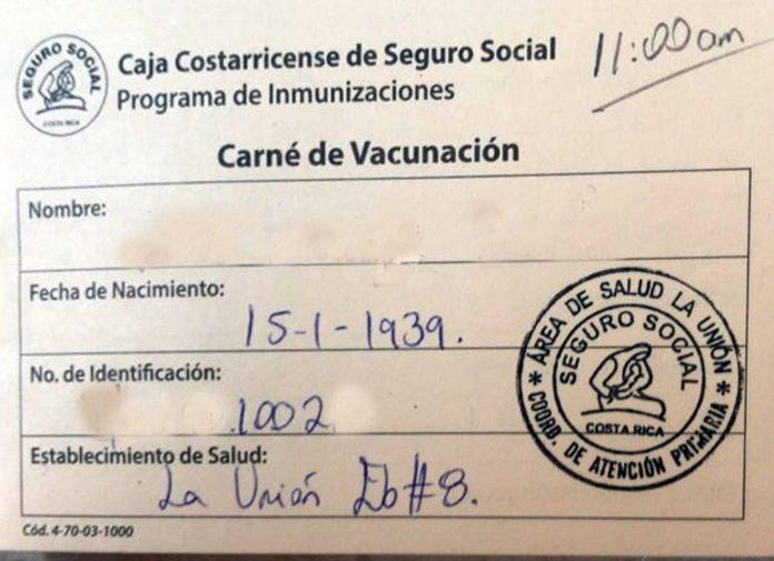 Certificado de vacunación, El Nacional